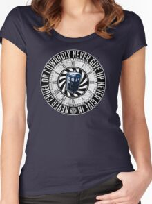 Never Cruel Or Cowardly - Doctor Who - TARDIS Clock Women's Fitted Scoop T-Shirt