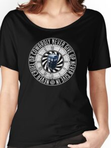 Never Cruel Or Cowardly - Doctor Who - TARDIS Clock Women's Relaxed Fit T-Shirt