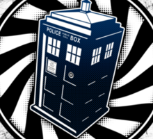 Never Cruel Or Cowardly - Doctor Who - TARDIS Clock Sticker