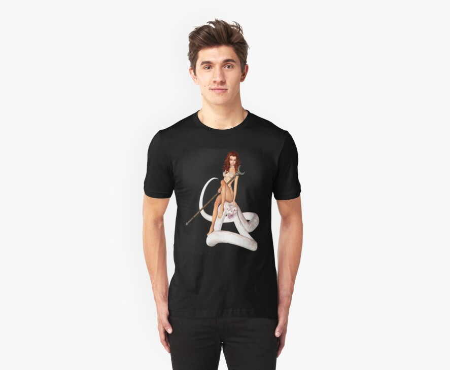 Snake Charmer Tee by Catherine Crimmins
