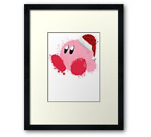 Kirby Splatter Christmas ~ ☆ Framed Print