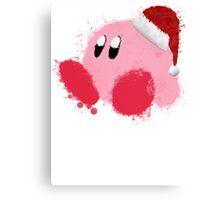 Kirby Splatter Christmas ~ ☆ Canvas Print