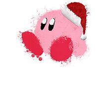 Kirby Splatter Christmas ~ ☆ Photographic Print