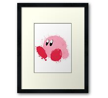 Kirby Splatter ~ ☆ Framed Print