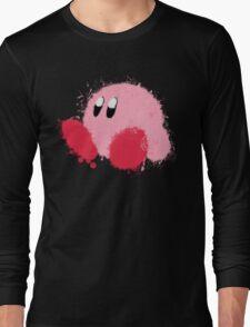 Kirby Splatter ~ ☆ Long Sleeve T-Shirt