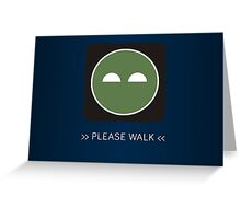 ODST Superintendent Walk Greeting Card