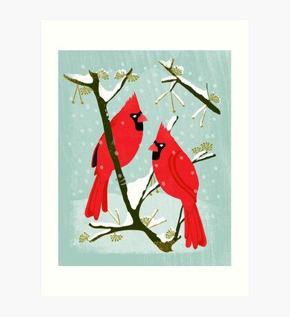 Winter Cardinals by Andrea Lauren  Art Print