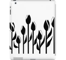 Black and White Tulips Design iPad Case/Skin