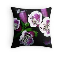 Foxgloves, Explorations in Inner Space Throw Pillow