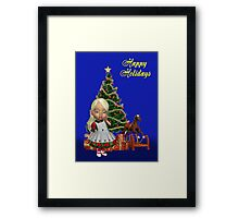 Christmas Holly Framed Print