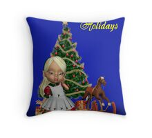 Christmas Holly Throw Pillow