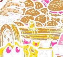 Burger Monster Attack Sticker