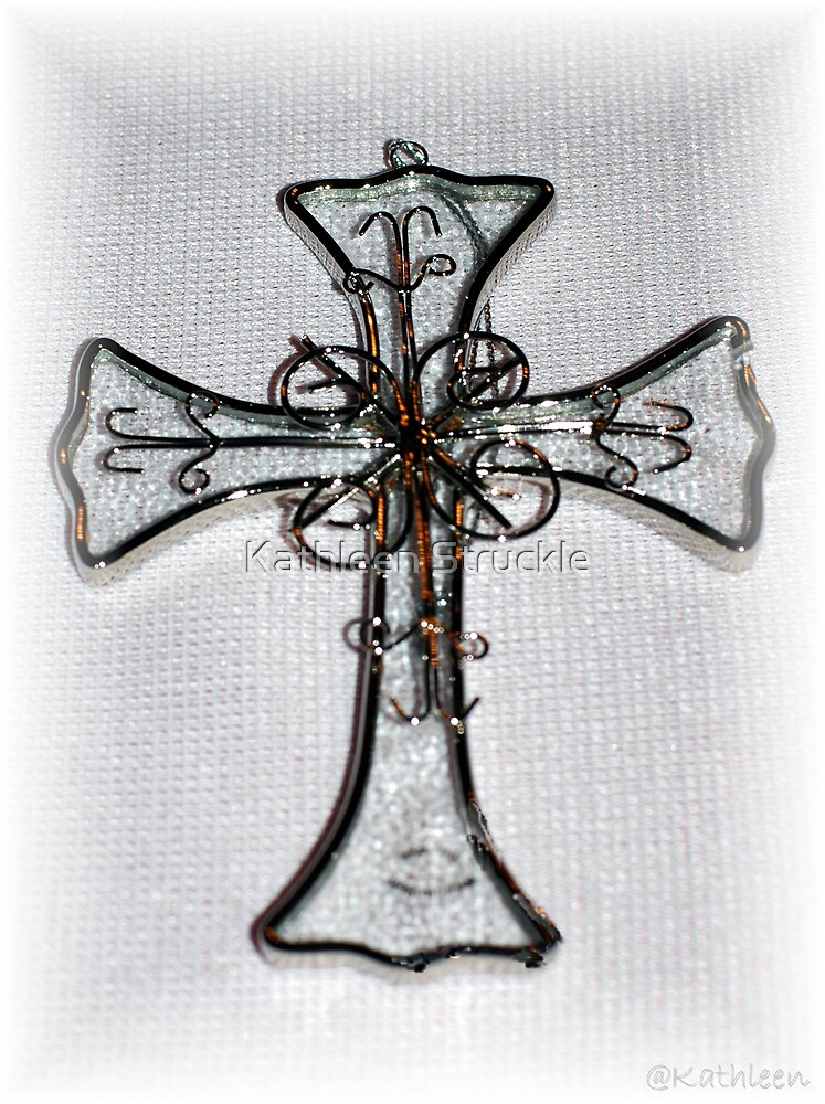 Glass Cross by Kathleen Struckle