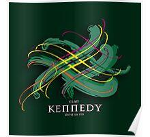 Kennedy Tartan Twist Poster