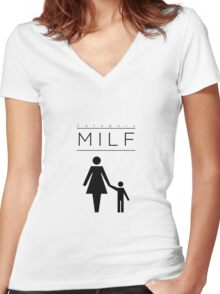 CATEGORY - MILF Women's Fitted V-Neck T-Shirt
