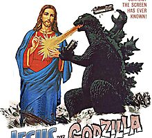 Jesus vs. Godzilla  by MarchoBi