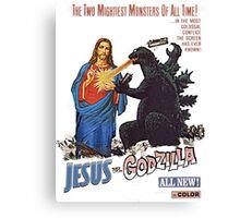 Jesus vs. Godzilla  Canvas Print