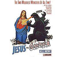 Jesus vs. Godzilla  Photographic Print