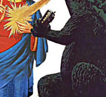 Jesus vs. Godzilla  Sticker