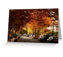 foliage in the city Greeting Card