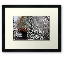 Christmas Bridge Framed Print