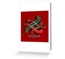MacLean Tartan Twist Greeting Card