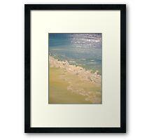 frothy tide Framed Print