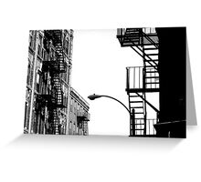 Fire Escapes Greeting Card