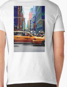 NYC Taxis Mens V-Neck T-Shirt