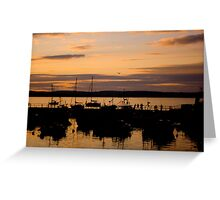 Ballycotton Co Cork at Sunset Greeting Card