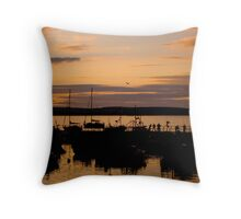 Ballycotton Co Cork at Sunset Throw Pillow