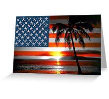 Beach Flag Greeting Card