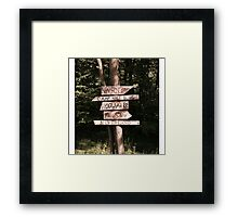Which path will you take? Framed Print