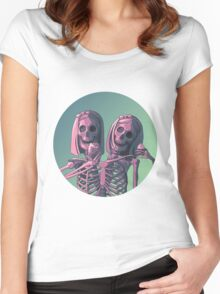 Siamese Twins  Women's Fitted Scoop T-Shirt