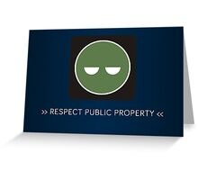 ODST Superintendent Respect Greeting Card