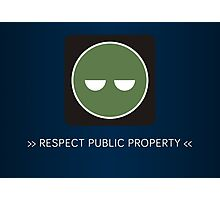 ODST Superintendent Respect Photographic Print