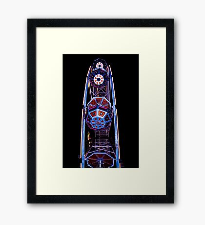 Ferris Wheel Buckets Framed Print