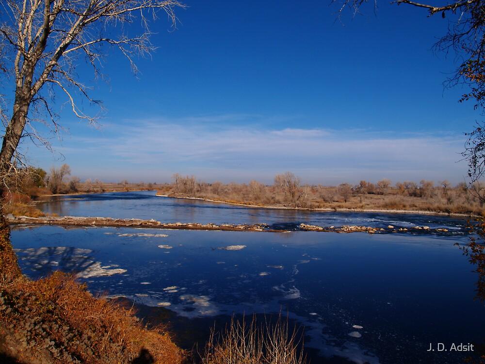 Blue of Heavens Blue of River by J. D. Adsit