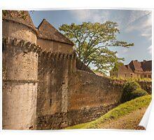 Chateau de Losse battlements Poster