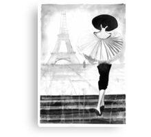 Date in Paris Canvas Print