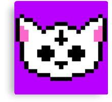 PIXEL - Satanic chibi cat Canvas Print