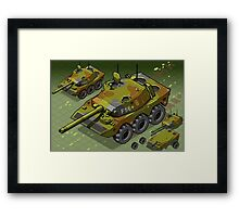Isometric Tank Two Version Framed Print