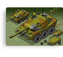 Isometric Tank Two Version Canvas Print