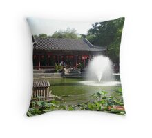 Garden in Beijing Throw Pillow