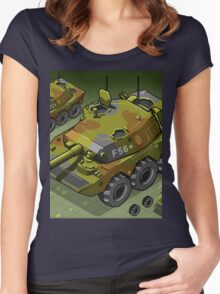 Isometric Tank Two Version Women's Fitted Scoop T-Shirt