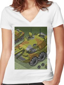 Isometric Tank Two Version Women's Fitted V-Neck T-Shirt