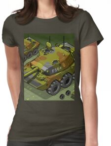 Isometric Tank Two Version Womens Fitted T-Shirt
