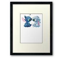 Fizz and Stitch Framed Print