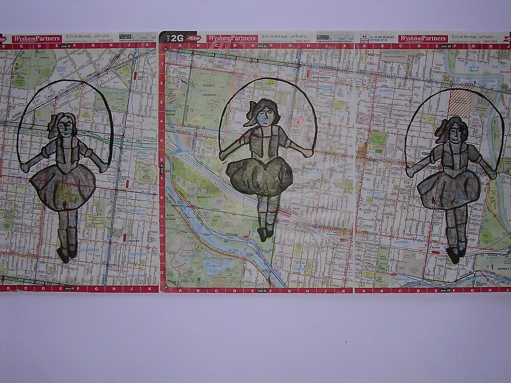 Three Skipping Girls by Joan Wild