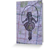 Skipping Girl (detail) Greeting Card